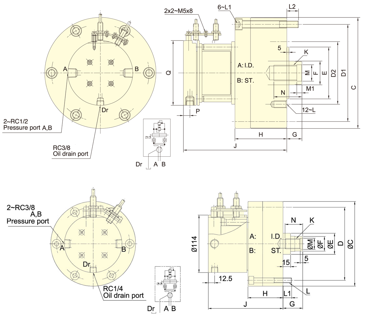 Compact Style Rotary Cylinders   Global Tooling